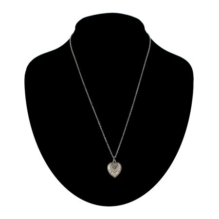 Silver Tone You Are My Sweetheart Heart Charm Pendant Necklace