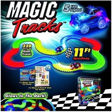 Magic Tracks Race Track Tracks Bend Flex and Glow Racetrack with Glow In the Dark Track