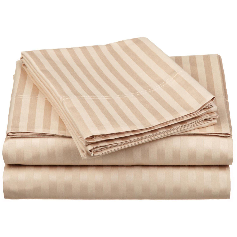 Superior 650 Thread Count Egyptian Cotton Stripe Sheet Set