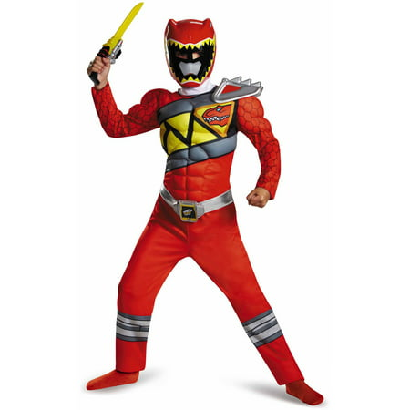Red Power Ranger Dino Charge Classic Muscle Child Halloween Costume - Red Riding Hood Halloween Costume Asda