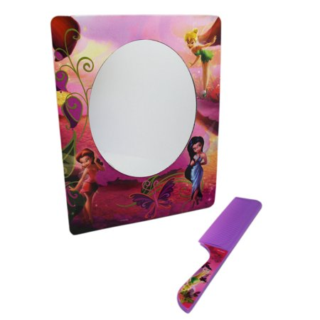 Disney Fairies Lavender Colored Kids Comb and Matching (Lavender Mirror)