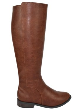28a20940850 Product Image Kauri Tan Brown City Classified Women Flat Basic Riding Boots  Side Zipper Knee High 7
