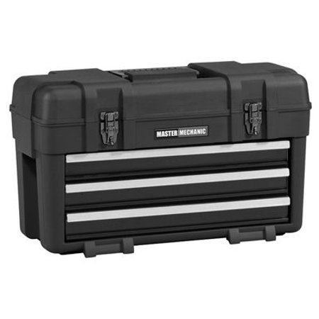 - Waterloo Industries MM23BK Plastic Tool Box / Chest, 3-Drawers, Portable