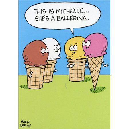 Angelina Ballerina Birthday (Oatmeal Studios Ice Cream Ballerina Funny Birthday Card)