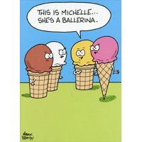 Oatmeal Studios Ice Cream Ballerina Funny Birthday Card