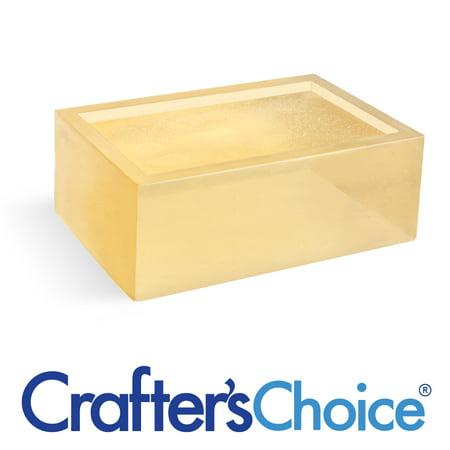 Crafters Choice 2 LB Detergent Free Honey Melt and Pour Soap - Soap Base 1 Lb Block