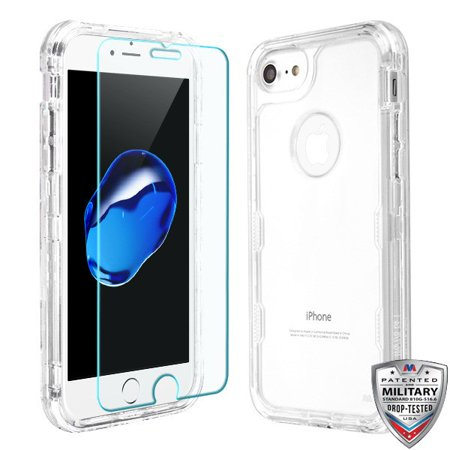 best service dee21 4646b Apple iPhone 8, iPhone 7, iPhone 6 / 6S Phone Case Tuff Hybrid Armor  Shockproof Impact Rubber Hard Protective Case Cover + Screen Protector ...
