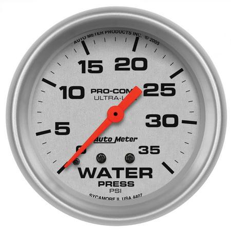 AutoMeter 4407 Ultra-Lite Mechanical Water Pressure Gauge 2 5/8