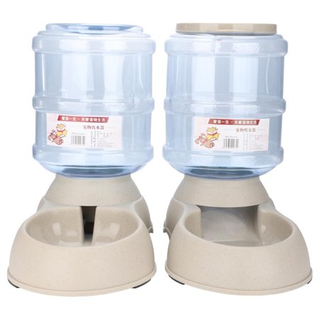 Tbest 3.75L Automatic Pets Feeder Food Water Dispenser Detachable Cats Dogs Puppy Feeding Machine ,Pets Feeder, Pets Food Dispenser
