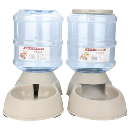 Tbest 3.75L Automatic Pets Feeder Food Water Dispenser Detachable Cats Dogs Puppy Feeding Machine ,Pets Feeder, Pets Food Dispenser ()