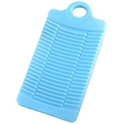 Mini Portable Washboard Plastic Clothes Cleaning Board Anti-Slip Linen Accessories (Blue)