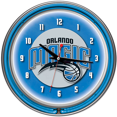 "Orlando Magic NBA 14"" Neon Wall Clock"