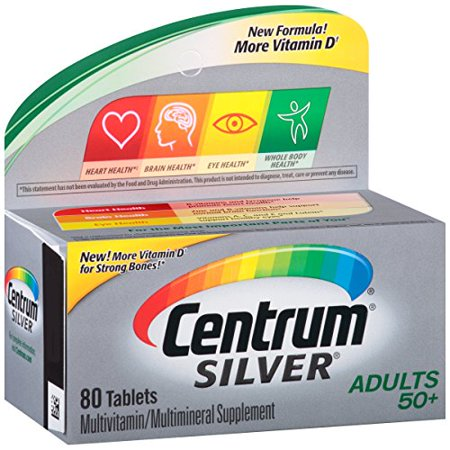 Centrum Silver Multivitamin/Multimineral Supplement 80 Tablets Centrum Silver Multivitamin/Multimineral Supplement 80 Tablets