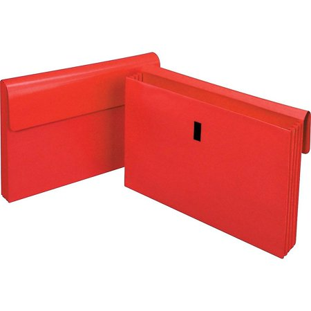 "Staples Laminated Expanding Wallet 3-1/2"" Expansion Legal Size Red (12561S) 516534"