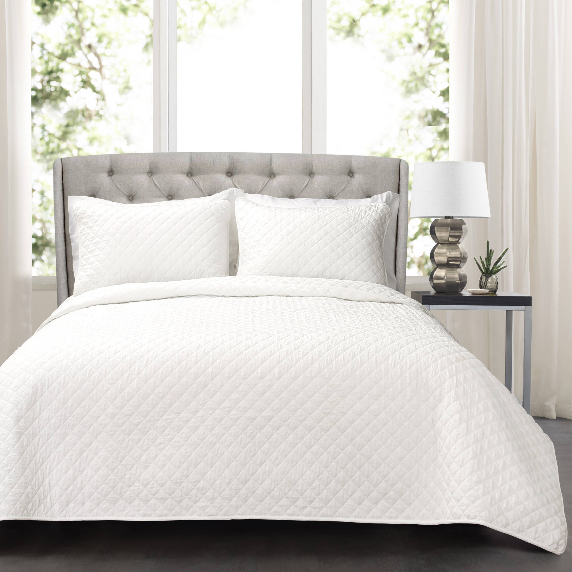 Ava Diamond Oversized Cotton Quilt 3pc Set