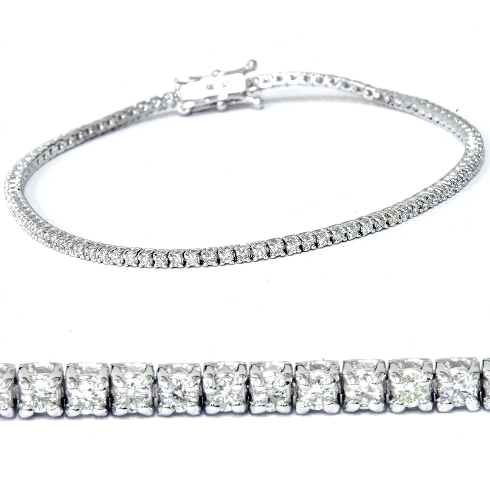 "2ct Diamond Tennis Bracelet 14K White Gold 7"" by Pompeii3"