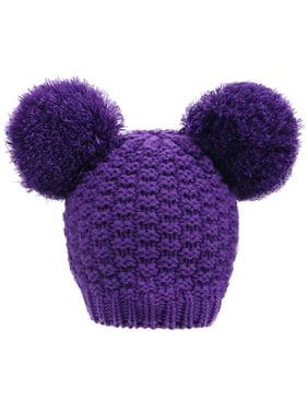 2fc117bd499 Product Image Women s Cute Knit Fuzzy Pompom Winter Beanie Hat