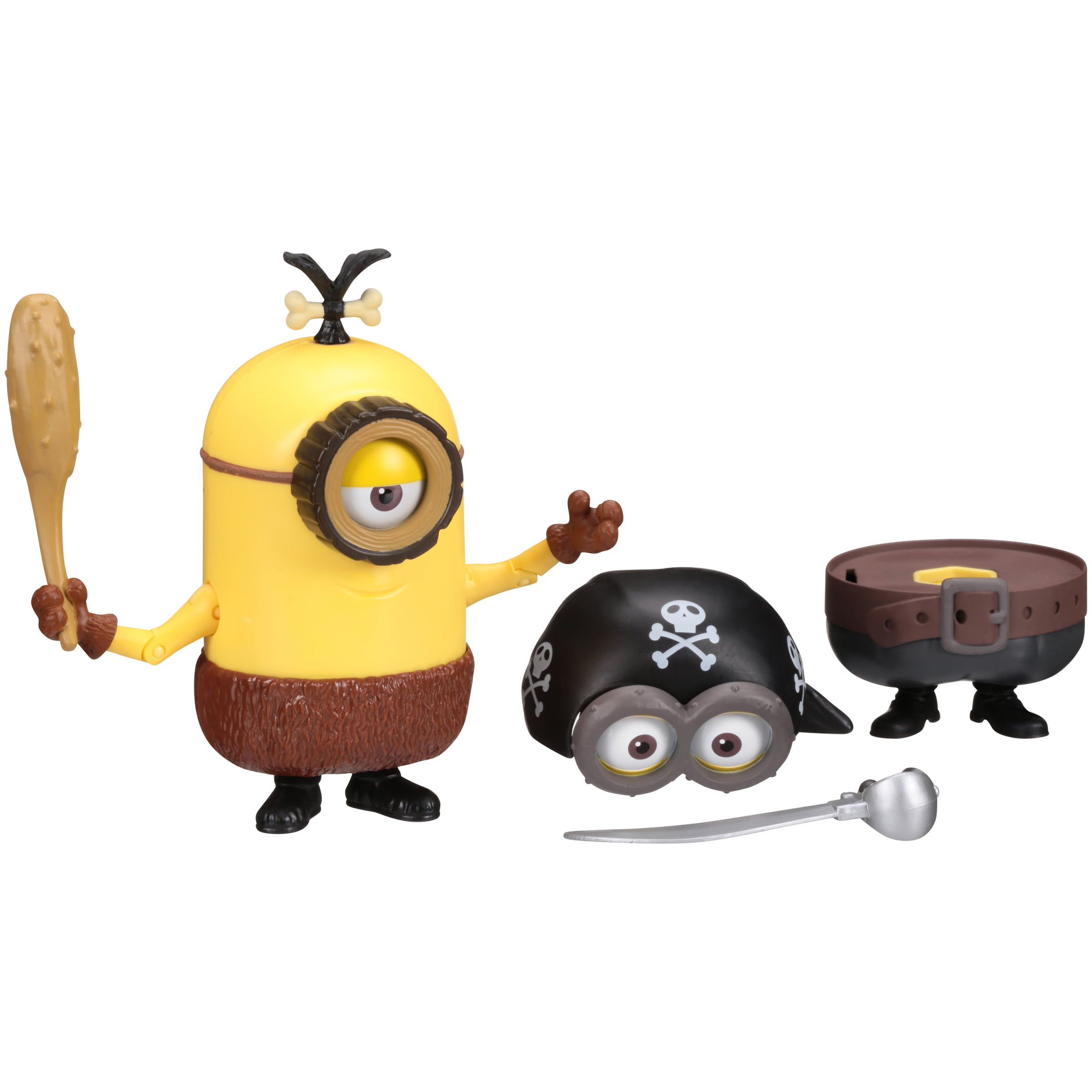 Minions Build-a-Minion Pirate Cro-Minion Figure 12 pc Carded Pack by Thinkway Toys