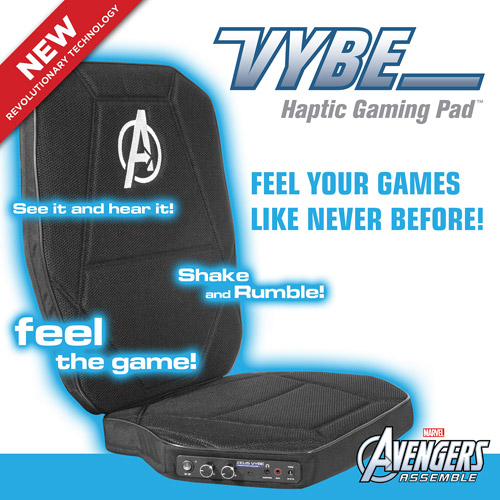 Marvel Avengers Vybe Haptic Gaming Pad, Video Rocker
