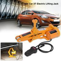 Hilitand Electric Jack 3Ton 12V DC Automotive Car Electric Jack Lifting SUV Van Garage and Emergency Equipment