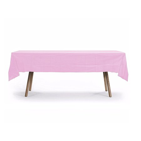 Brown Plastic Tablecloth (Plastic Table Cover, 108