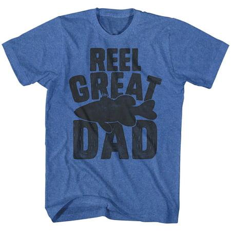 Reel Great Dad Fisherman Fish Funny Comical Joke Adult T-Shirt Tee - Adult Joke Comics