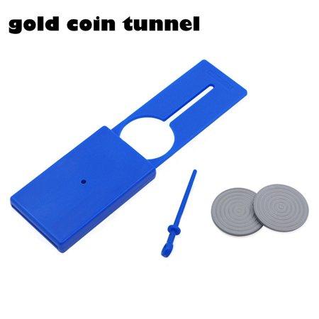 Smart Novelty Penny Coin Through Thru Spike Penetration Money Close Up Magic Trick Tunnel Prop Coin Close Up Magic Trick
