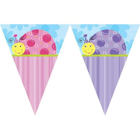 Ladybug Party Banner (lil ladybug party 12 flag banner - each )