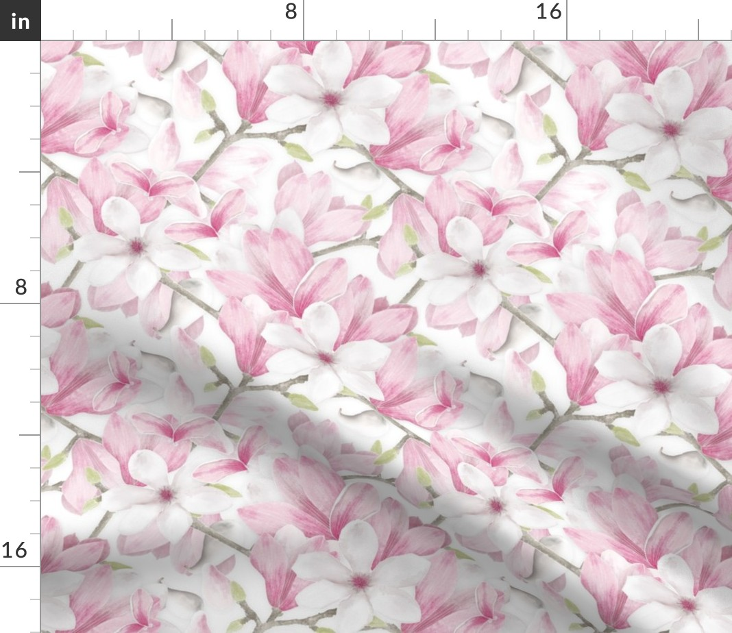 Spring Flowers Spring Floral   Cotton Sateen Table Runner by Spoonflower Pink by michellenilson Pastel Mod Flowers Table Runner