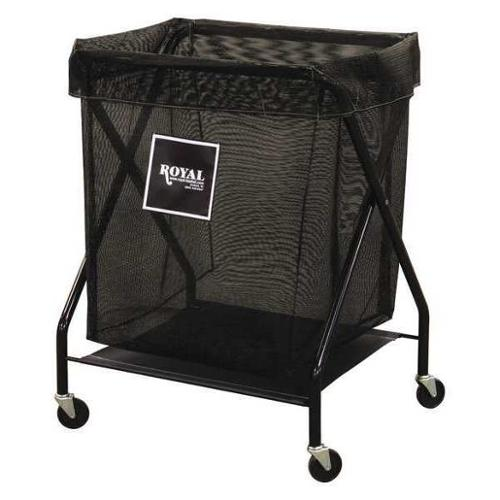 ROYAL BASKET TRUCK G06-KKX-XMA-3ONN X-Frame Cart,6.7 cu. ft.,Black,Mesh