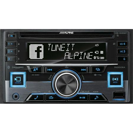 Alpine CDE-W265BT Double DIN Bluetooth In-Dash CD/AM/FM Receiver w/ App Direct Mode Alpine Cd Changer Interface