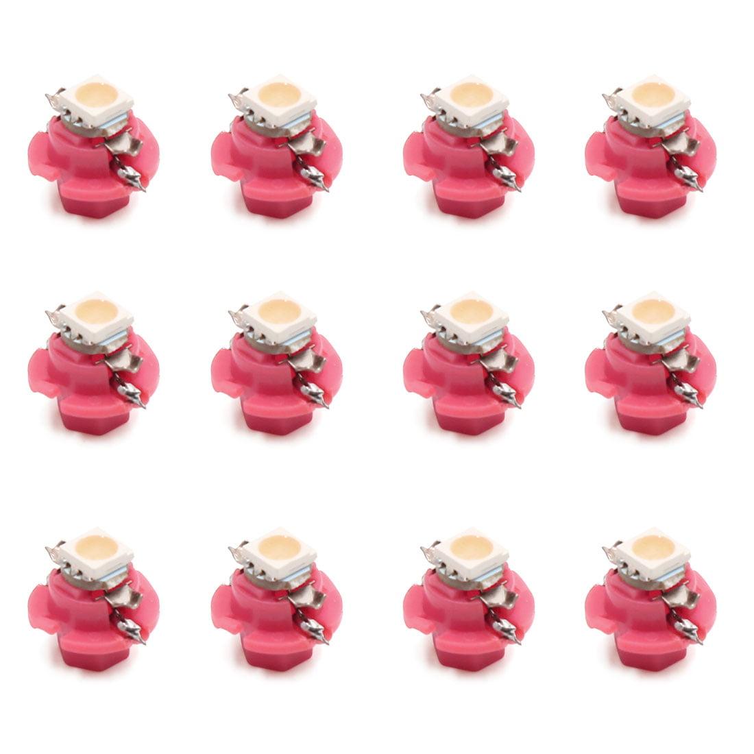 12pcs 12V B8.4 1-5050-SMD Pink LED Car Interior Dashboard Panel Light Bulb - image 5 of 5