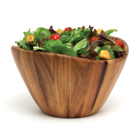 """1174 Acacia Wave Serving Bowl for Fruits or Salads, Large, 12"""" Diameter x 7"""" Height, Single Bowl Lipper International"""