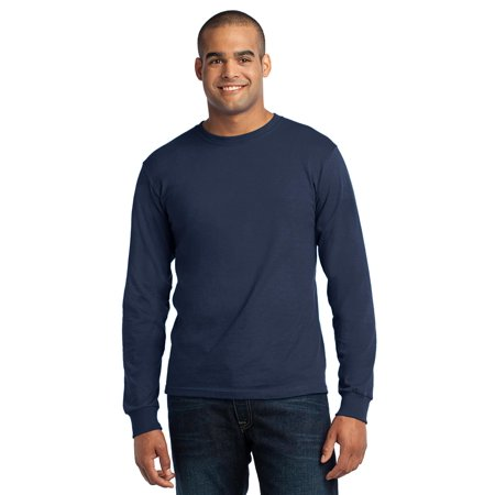 Port & Company® - Long Sleeve All-American Tee. Usa100ls Navy M - image 1 of 1