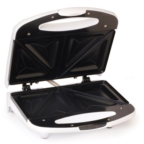 Elite Cuisine Sandwich Maker, White