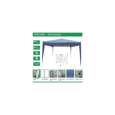 Quictent 8x8 ft EZ Pop Up Canopy Instant Folding Gazebo Outdoor Party Tent Beach tent W/ Bag Navy Blue (Canopy Tent For Bed)