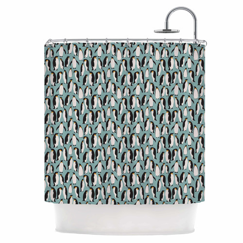 East Urban Home Penguin Colony Shower Curtain