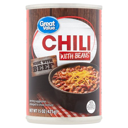 Great Value Chili With Beans  15 Oz