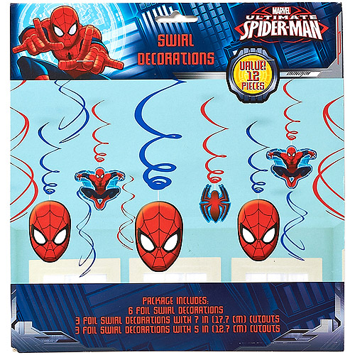 Spider-Man Hanging Party Decorations, Party Supplies SWRLD-23385