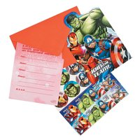 Marvel Epic Avengers Invites for Birthday - Party Supplies - Licensed Tableware - Licensed Invitations - Birthday - 8 Pieces