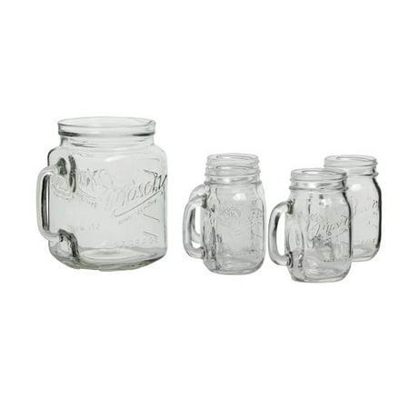 Mason Craft and More 5 Piece Round Glass Drinkware Set