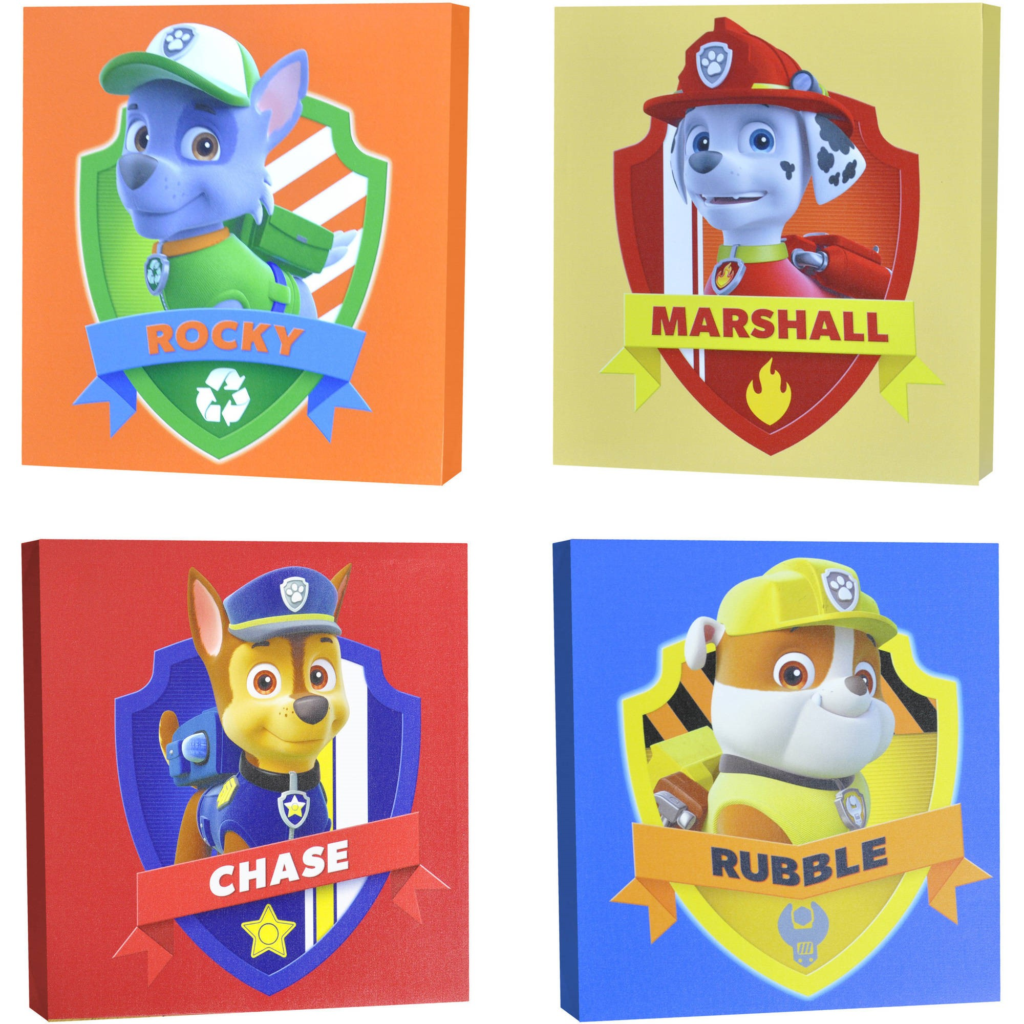 Nickelodeon Paw Patrol 4-Piece Canvas Wall Art