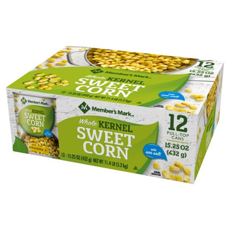 Branded Member's Mark Whole Kernel Sweet Corn (15.25 oz., 12 ct.) - Sugar Free [Qty Discount / Wholesale Price]