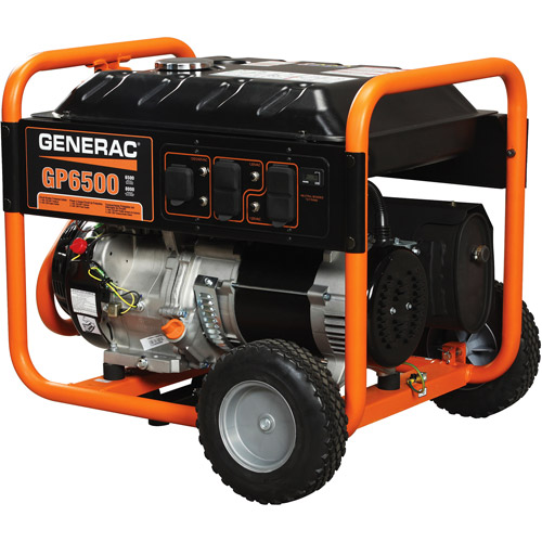Generac 5940 GP6500, 6,500 Watt Portable Gas Powered Generator (Non-CARB Compliant)