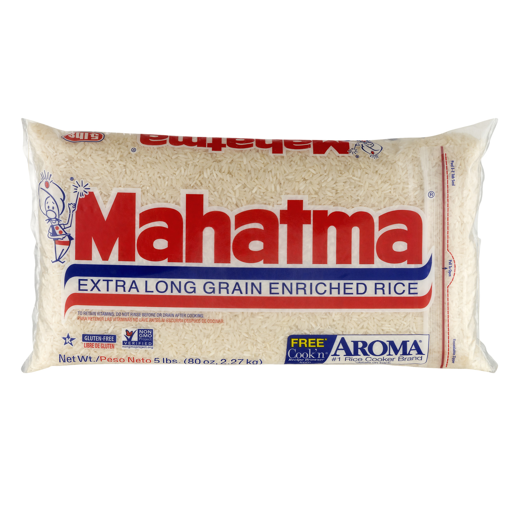 Mahatma Extra Long Grain Enriched Rice, 80.0 OZ