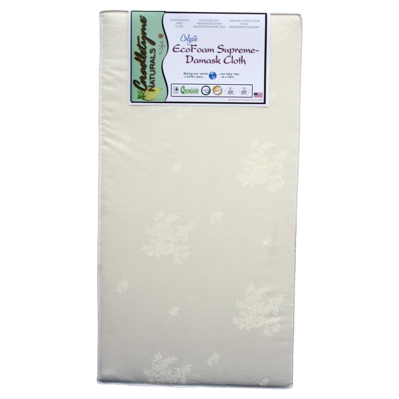 Colgate EcoFoam Supreme Damask Cloth Crib Mattress