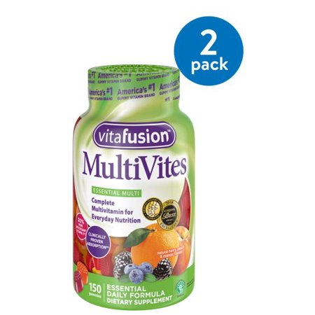 Adult Multi Vitamin - (2 Pack) Vitafusion MultiVites Gummy Vitamins, 150ct