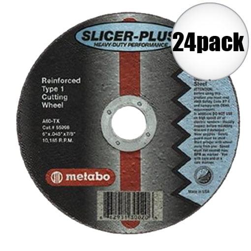 "Metabo 55352 6x045x7/8"" Slicer Plus 24-Pack"