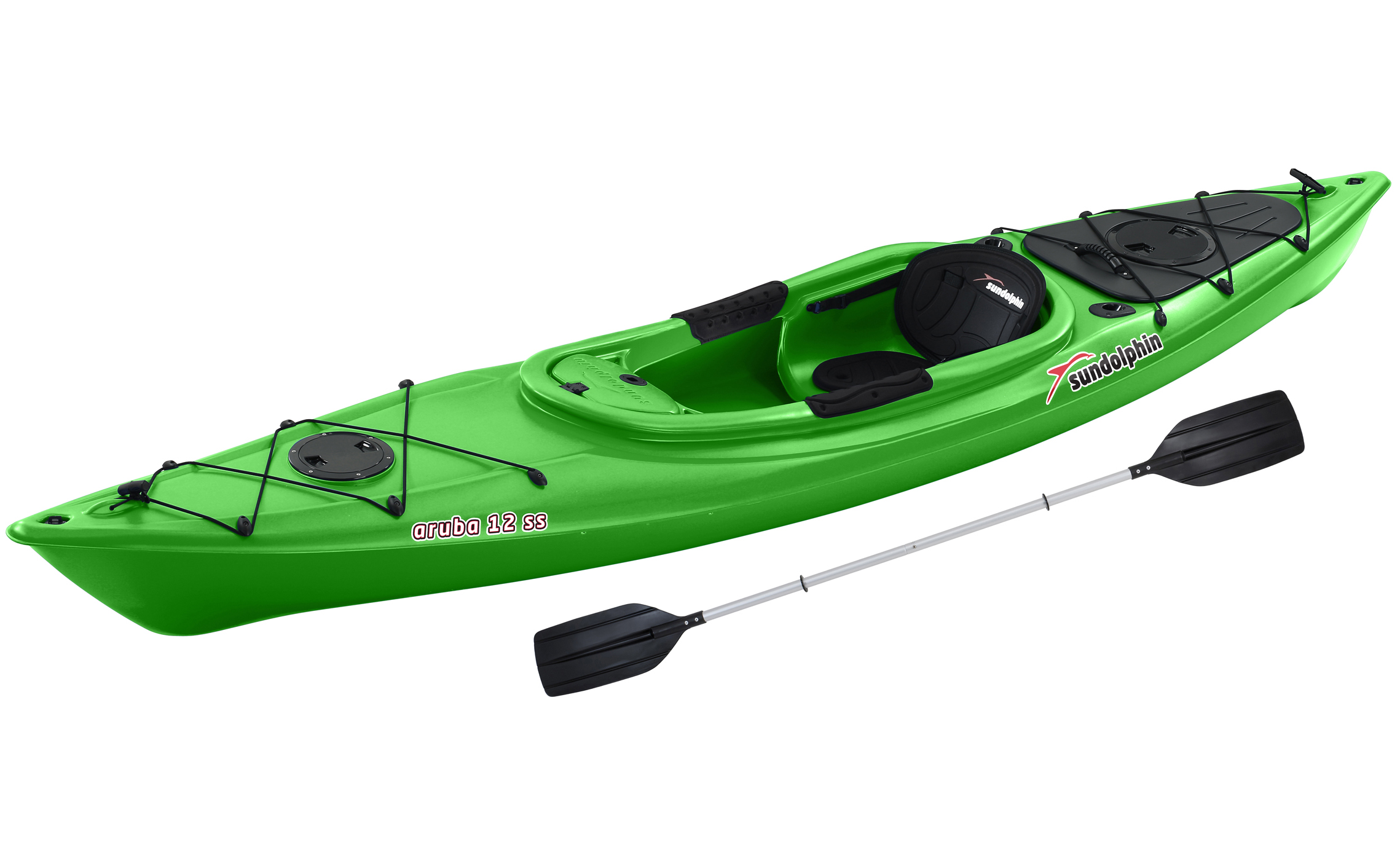 Sun Dolphin Aruba Sit-In 12' Kayak Blue, Paddle Included by KL Outdoor