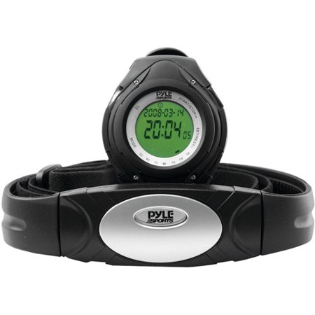 Pyle Phrm38bk Heart Rate Monitor Watch  Black